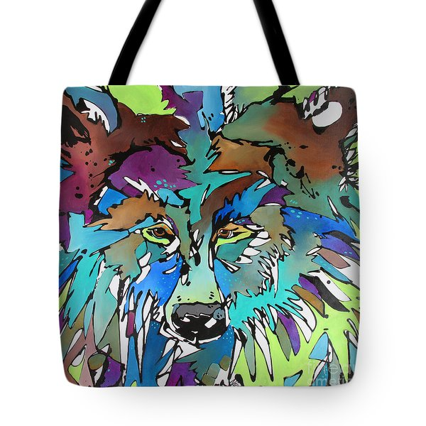 Tote Bag featuring the painting Hell-bent by Nicole Gaitan