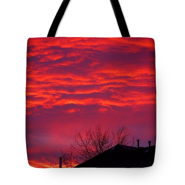 Tote Bag featuring the photograph Hell Over Ontario by Valentino Visentini