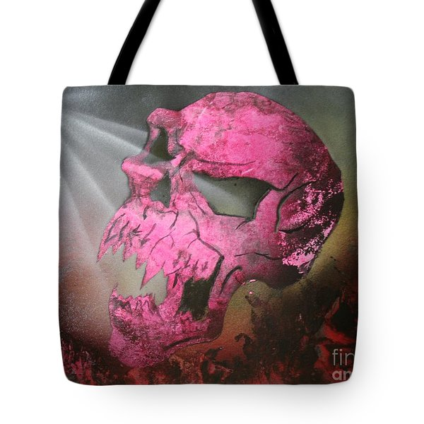 Tote Bag featuring the painting Hell by Tbone Oliver