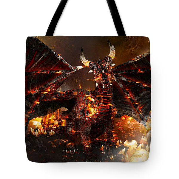 Hellborn Dragon Tote Bag