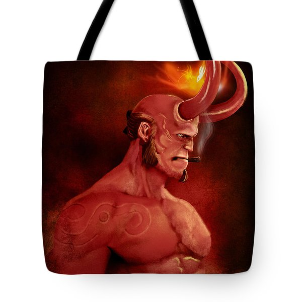 Hellboy Tote Bag by Jason Longstreet