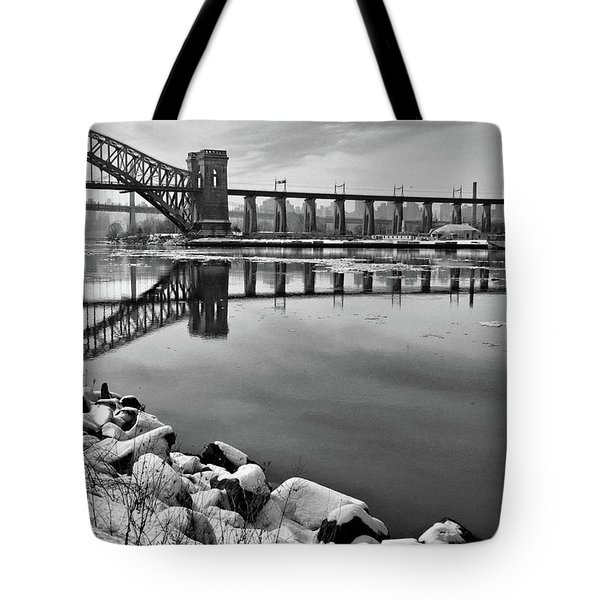 Hellgate Half Reflection Tote Bag