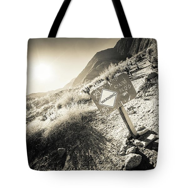 Hellhole Canyon Warning Tote Bag