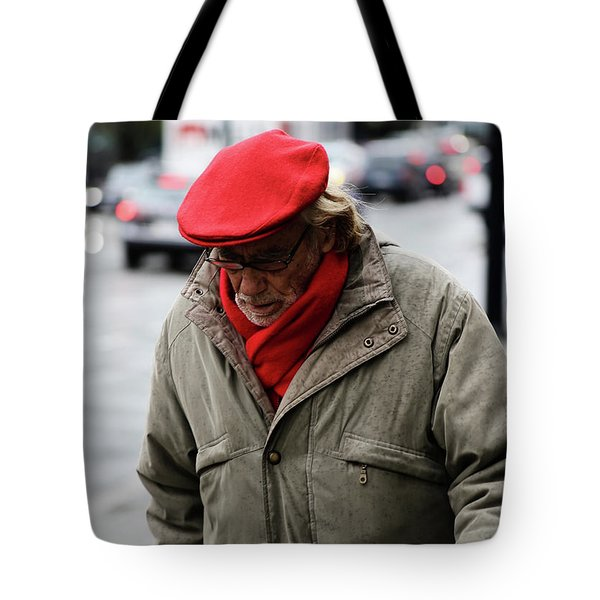 Tote Bag featuring the photograph Hello Bonjour  by Empty Wall