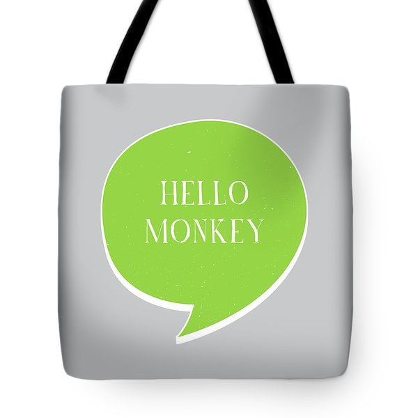Hello Monkey Tote Bag