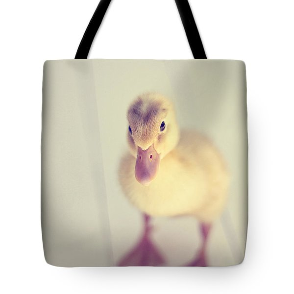 Tote Bag featuring the photograph Hello Ducky by Amy Tyler