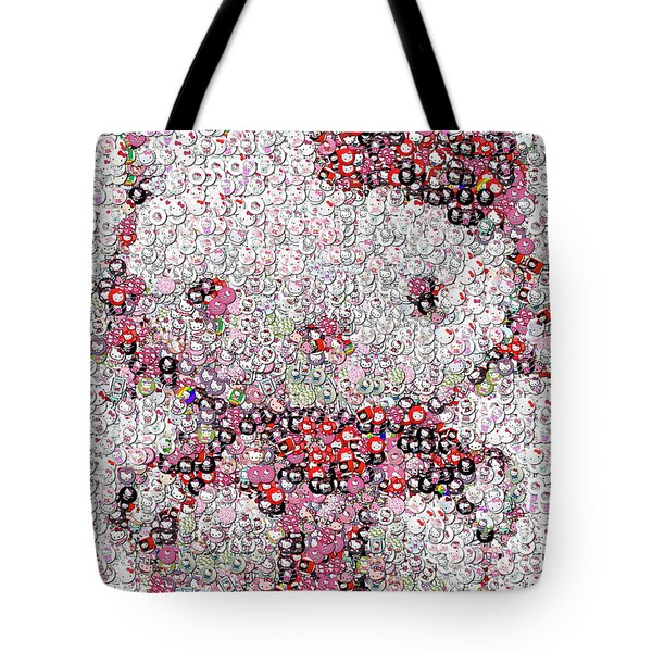 Hello Kitty Button Mosaic Tote Bag by Paul Van Scott