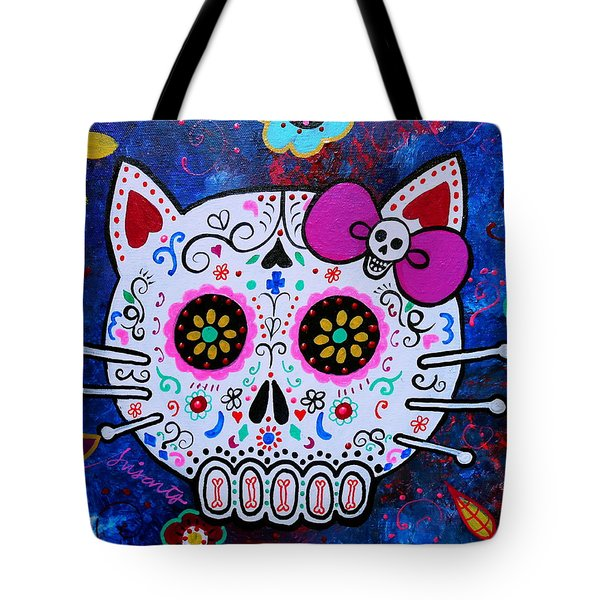 Kitty Day Of The Dead Tote Bag
