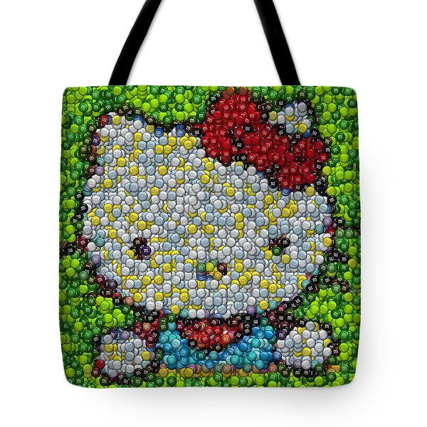 Hello Kitty Mm Candy Mosaic Tote Bag by Paul Van Scott