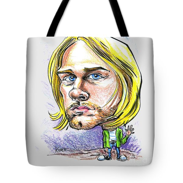 Tote Bag featuring the drawing Hello Kurt by John Ashton Golden