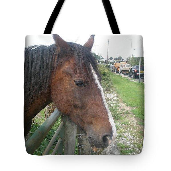Hello Mr Horse Tote Bag