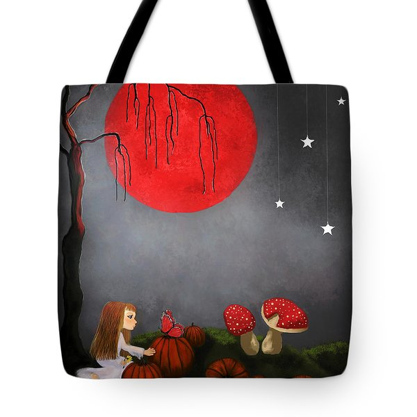 Red Moon By Sannel Larson Tote Bag