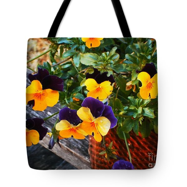 Hello Spring Tote Bag by Donna Dixon
