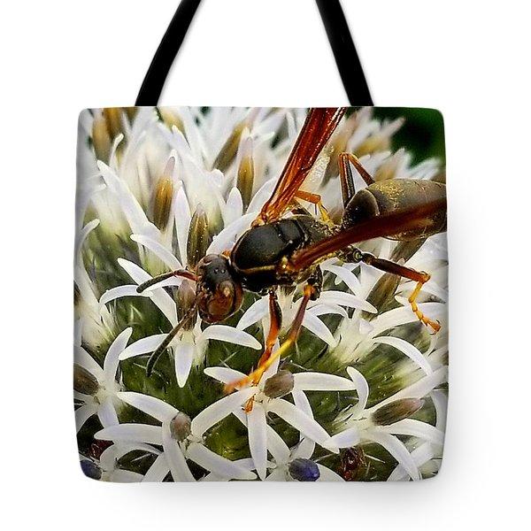 Hello, Wasp Tote Bag