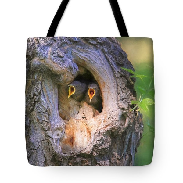 Hello - Anybody Out There  Tote Bag by Donna Kennedy