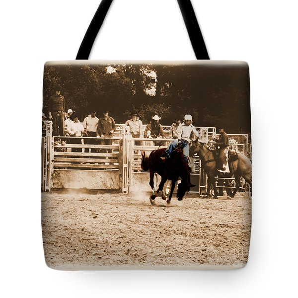 Helluva Rodeo-the Ride 2 Tote Bag