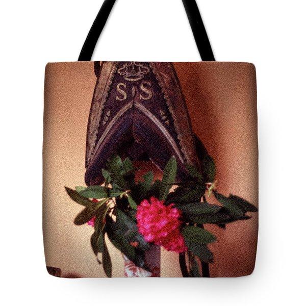 Helmet And Flower Tote Bag