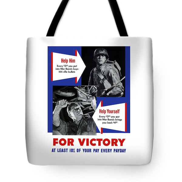 Help Him Help Yourself  Tote Bag by War Is Hell Store