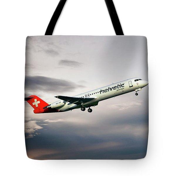 Helvetic Airways Fokker 100 Tote Bag