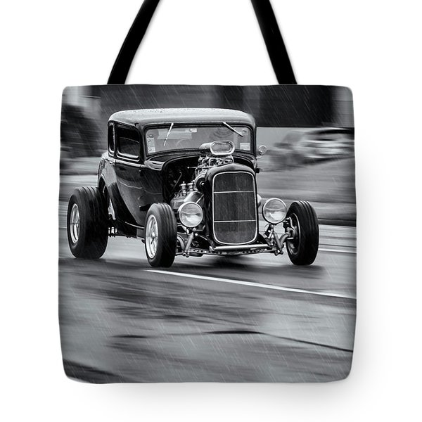Hemi Powered 1932 Ford 5 Window Coupe Tote Bag by Ken Morris