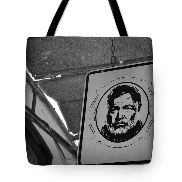 Tote Bag featuring the photograph Hemingway Vision by Jost Houk