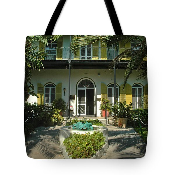 Hemingways House Key West Tote Bag by Susanne Van Hulst