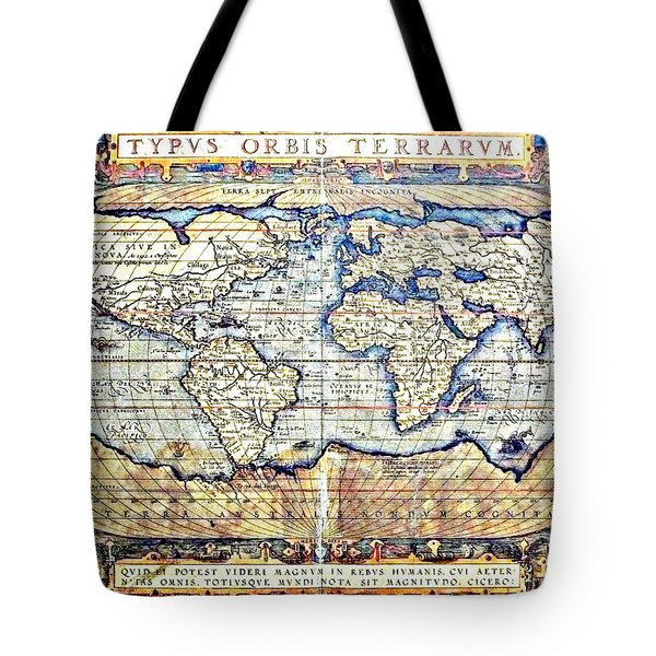 Hemisphere World  Tote Bag