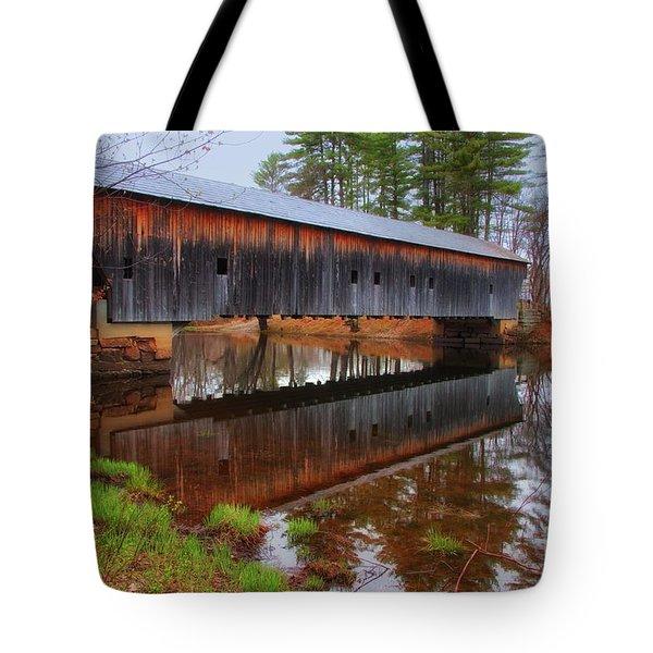 Hemlock Covered Bridge Fryeburg Maine Tote Bag