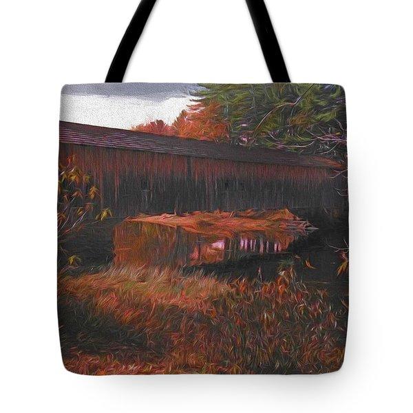Hemlock Covered Bridge Tote Bag