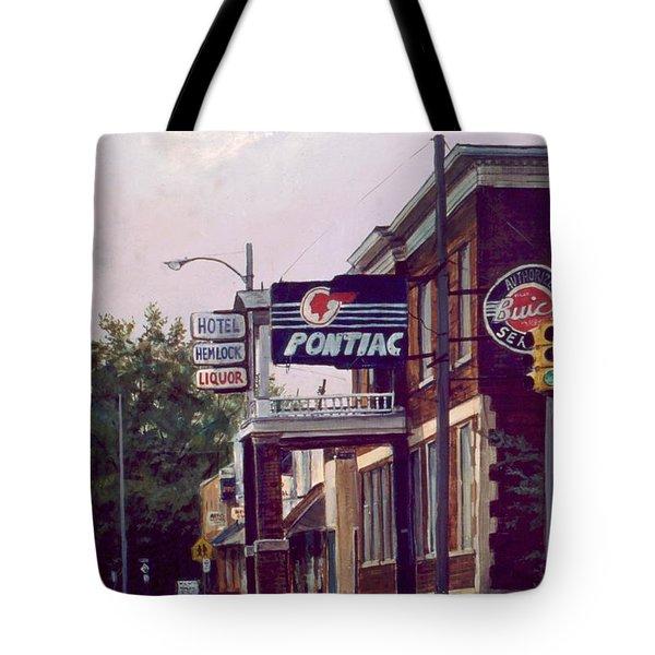 Hemlock Hotel Tote Bag