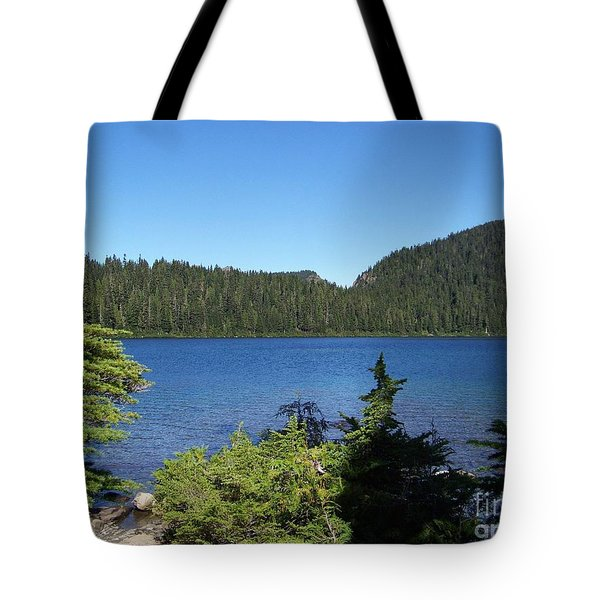 Tote Bag featuring the photograph Hemlock On The Shore by Charles Robinson