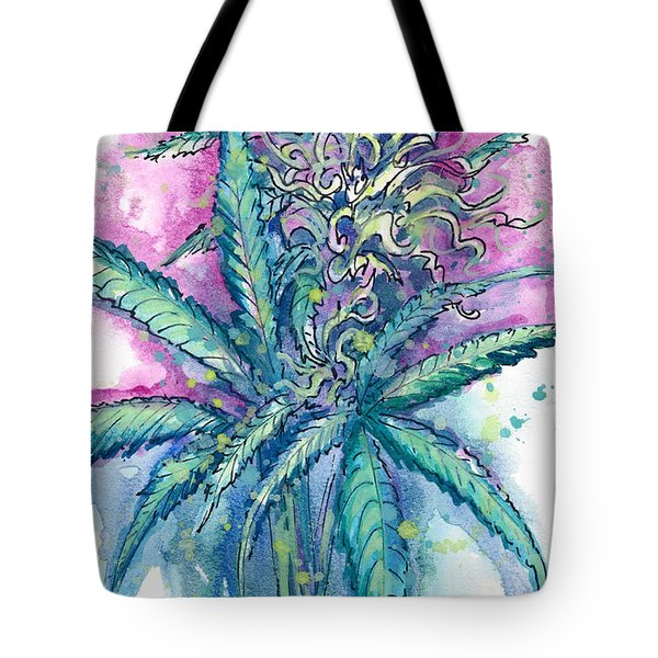 Tote Bag featuring the painting Hemp Blossom by Ashley Kujan