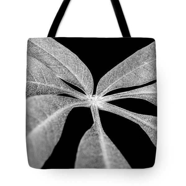 Hemp Tree Leaf Tote Bag