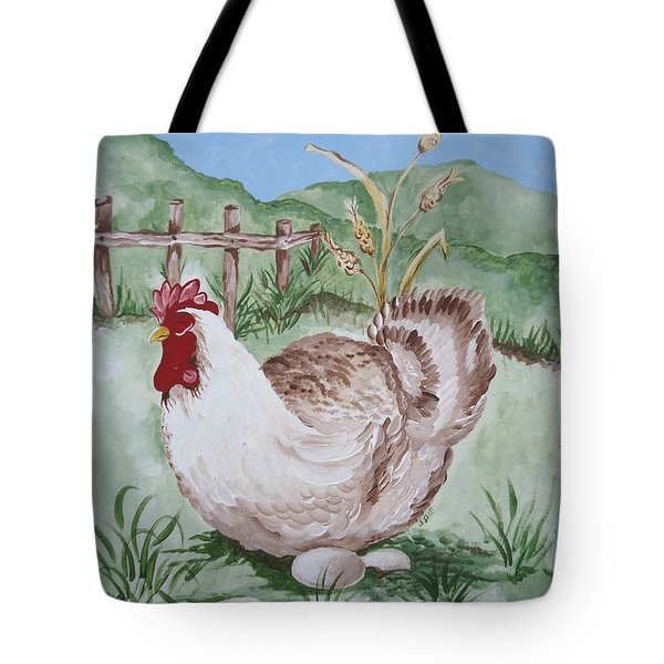 Hen And Eggs Tote Bag