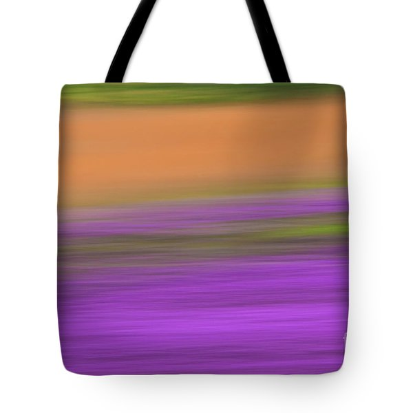 Tote Bag featuring the photograph Henbit Abstract - D010049 by Daniel Dempster