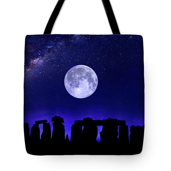 Henge Under The Supermoon Tote Bag