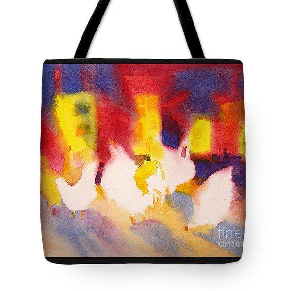 Henhouse Serenade Tote Bag by Kathy Braud