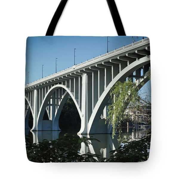Tote Bag featuring the photograph Henley Street Bridge II by Douglas Stucky