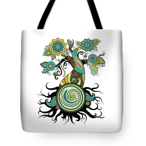 Henna Tree Of Life Tote Bag