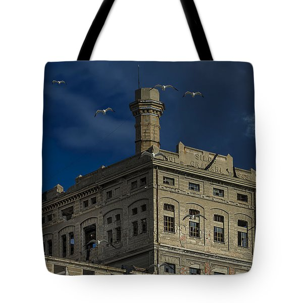 Tote Bag featuring the photograph Hennebique Silos 1 Industrial Archeology Abandoned Places by Enrico Pelos