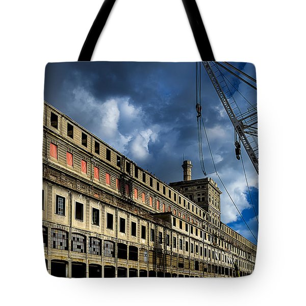 Tote Bag featuring the photograph Hennebique Silos 2 Industrial Archeology Abandoned Places by Enrico Pelos