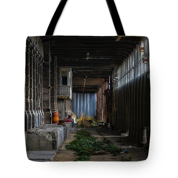 Tote Bag featuring the photograph Hennebique Silos 3 Industrial Archeology Abandoned Places by Enrico Pelos