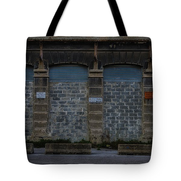 Tote Bag featuring the photograph Hennebique Silos 4 Industrial Archeology Abandoned Places by Enrico Pelos