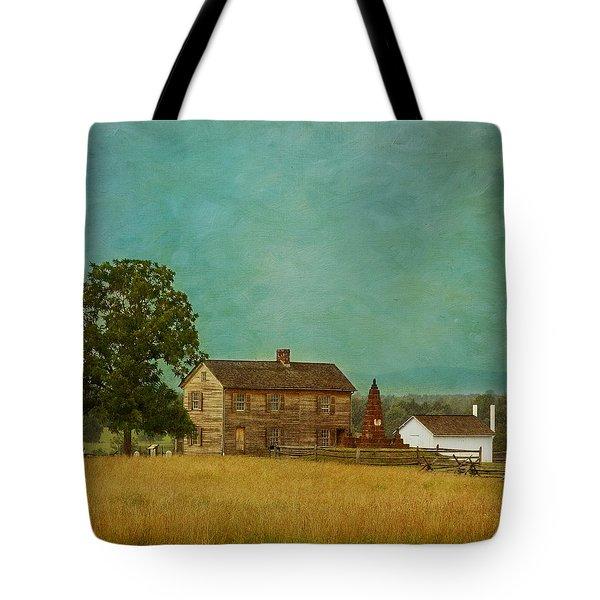 Henry House At Manassas Battlefield Park Tote Bag