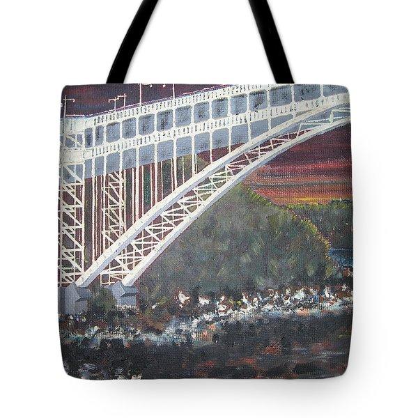 Henry Hudson Bridge Tote Bag