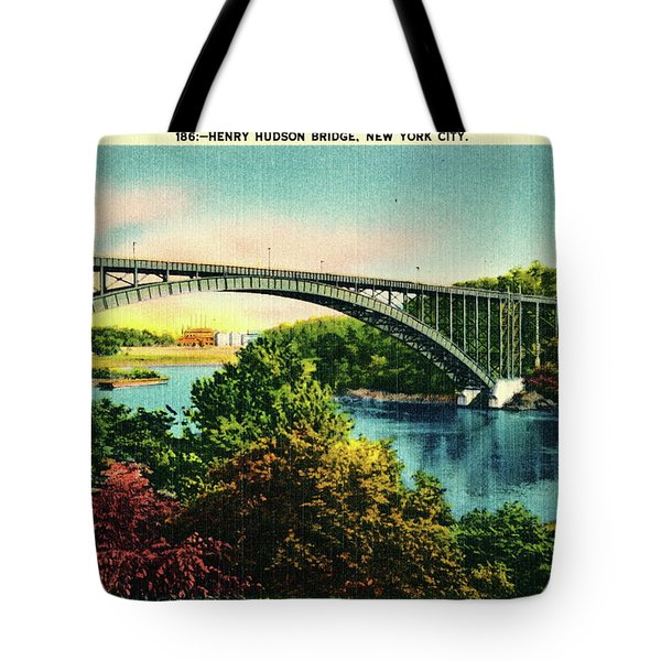 Henry Hudson Bridge Postcard Tote Bag by Cole Thompson