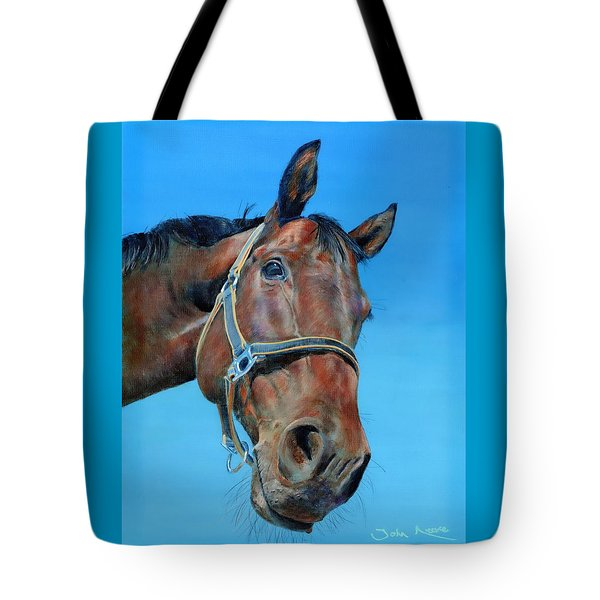 Tote Bag featuring the painting Henry by John Neeve