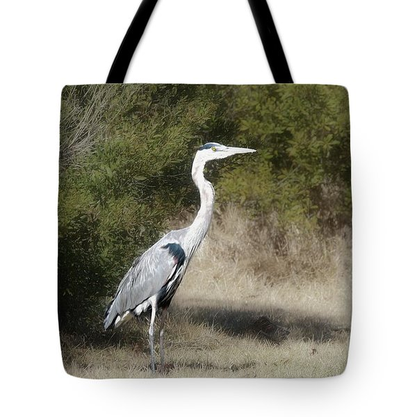 Tote Bag featuring the photograph Henry The Heron by Benanne Stiens
