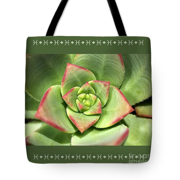 Hens And Chicks Succulent And Design Tote Bag by Joy Watson