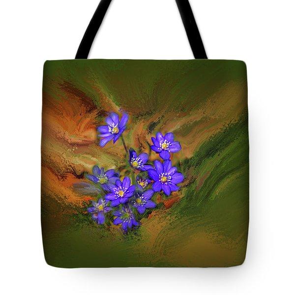 Hepatica Nobilis Painterly #h4 Tote Bag